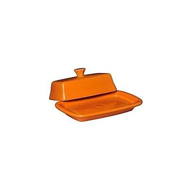 Fiesta Covered Butter Dish; Tangerine