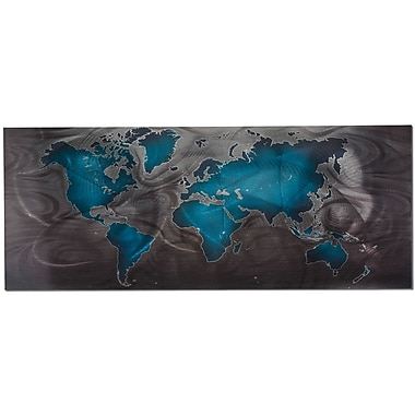 Metal Art Studio Land and Sea by Nicholas Yust Graphic Art Plaque; Blue and Pewter