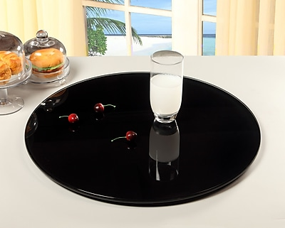 Chintaly Rotating Tray Lazy Susan; Black WYF078276884759