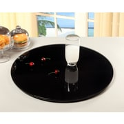 Chintaly Rotating Tray Lazy Susan; Black