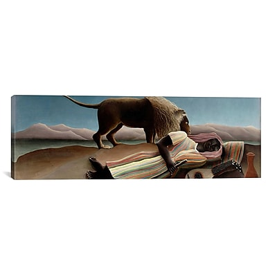 iCanvas 'Sleeping Gypsy' by Henri Rousseau Graphic Art on Canvas; 24'' H x 72'' W x 1.5'' D