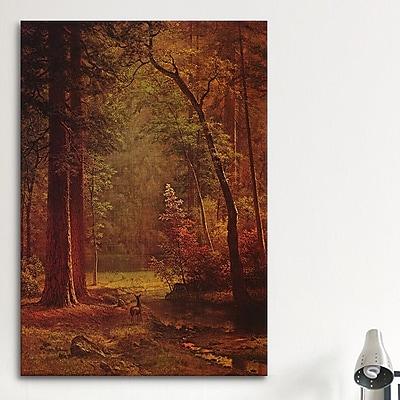 iCanvas 'Dogwood' by Albert Bierstadt Painting Print on Canvas; 60'' H x 40'' W x 1.5'' D