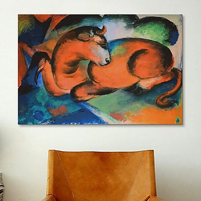 iCanvas 'Red Bull' by Franz Marc Painting Print on Canvas; 12'' H x 18'' W x 0.75'' D