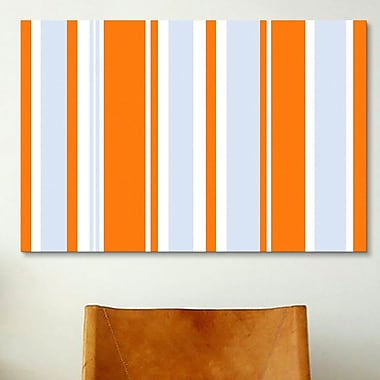 iCanvas Striped Grand Prix Baby by Graphic Art on Canvas; 12'' H x 18'' W x 0.75'' D
