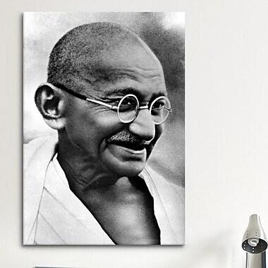 iCanvas Political Gandhi Portrait Photographic Print on Canvas; 40'' H x 26'' W x 0.75'' D