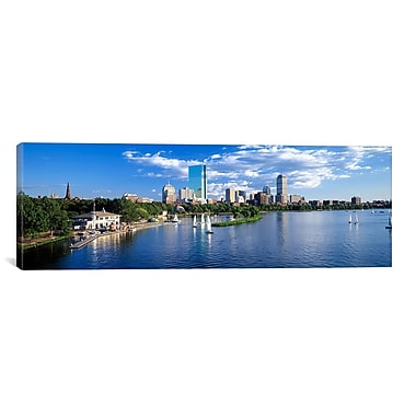 iCanvas Panoramic Boston, Massachusetts Photographic Print on Canvas; 20'' H x 60'' W x 0.75'' D