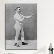 iCanvas Boxing Champion John L. Sullivan Photographic Print on Canvas; 40'' H x 26'' W x 0.75'' D