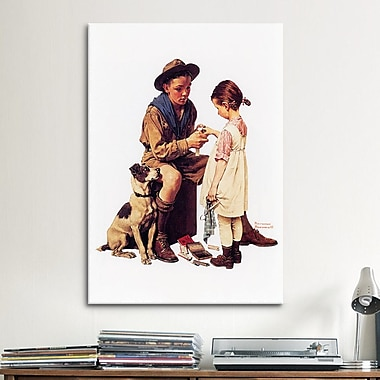 iCanvas 'Young Doctor' by Norman Rockwell Painting Print on Canvas; 18'' H x 12'' W x 0.75'' D