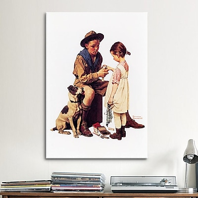 iCanvas 'Young Doctor' by Norman Rockwell Painting Print on Canvas; 18'' H x 12'' W x 1.5'' D