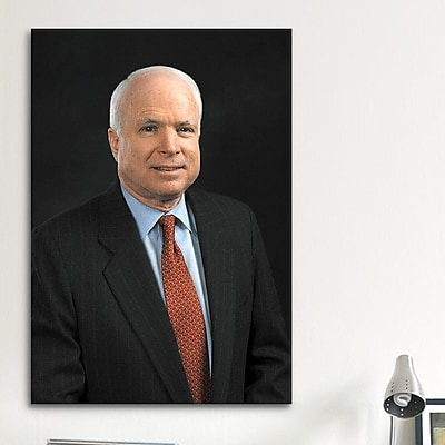 iCanvas Political John Mccain Portrait Photographic Print on Canvas; 40'' H x 26'' W x 1.5'' D