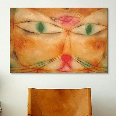 iCanvas 'Cat and Bird' by Paul Klee Painting Print on Canvas; 12'' H x 18'' W x 1.5'' D