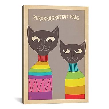 iCanvas Anderson Design Group 'Purfect Pals' Graphic Art on Canvas; 40'' H x 26'' W x 0.75'' D