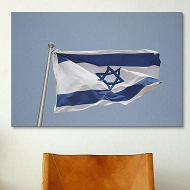 iCanvas Jewish Israeli Flag Photographic Print on Canvas; 26'' H x 40'' W x 0.75'' D
