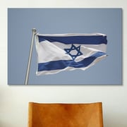 iCanvas Jewish Israeli Flag Photographic Print on Canvas; 26 inch H x 40 inch W...