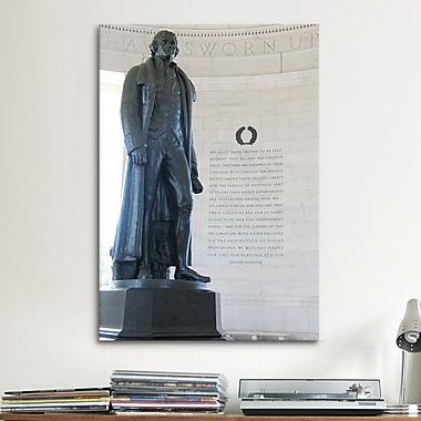 iCanvas Political Jefferson Memorial Photographic Print on Canvas; 12'' H x 8'' W x 0.75'' D