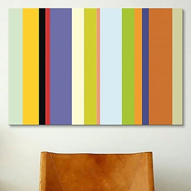 iCanvas Striped For the Love of Color Graphic Art on Canvas; 40'' H x 60'' W x 1.5'' D