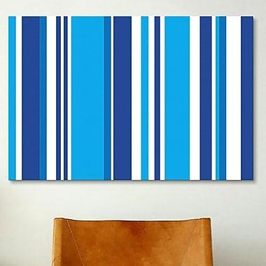 iCanvas Striped Cobalt Baby Blue Graphic Art on Canvas; 40'' H x 60'' W x 1.5'' D