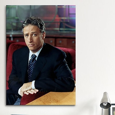 iCanvas Political Jon Stewart Portrait Photographic Print on Canvas; 40'' H x 26'' W x 0.75'' D