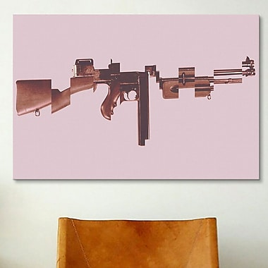 iCanvas Mugshot Gangster's Toy (Machine Gun) Graphic Art on Canvas; 26'' H x 40'' W x 0.75'' D