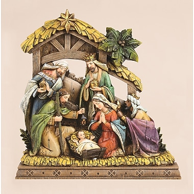 Joseph's Studio Nativity Wood Carve Look Figurine