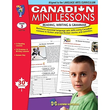 « Canadian Mini Lessons: Reading, Writing and Grammar, 3e année, anglais