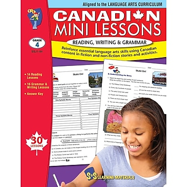 Canadian Mini Lessons: Reading, Writing and Grammar, Grade 4