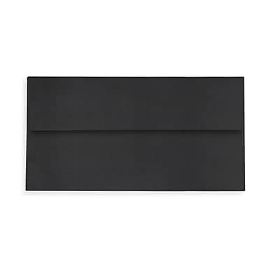 LUX Slimline Invitation Envelopes (3 7/8 x 8 7/8), Midnight Black, 500/Box (LUX-72973-B-500)