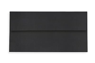 LUX Slimline Invitation Envelopes (3 7/8 x 8 7/8) 50/Box, Midnight Black (LUX-72973-B-50)