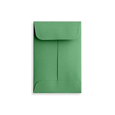 LUX #1 Coin Envelopes (2 1/4 x 3 1/2), Holiday Green, 500/Box (LUX-1CO-L17-500)