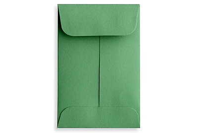 LUX #1 Coin Envelopes (2 1/4 x 3 1/2) 500/Box, Holiday Green (LUX-1CO-L17-500)