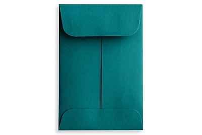 LUX #1 Coin Envelopes (2 1/4 x 3 1/2) 250/Box, Teal (LUX-1CO-25-250)