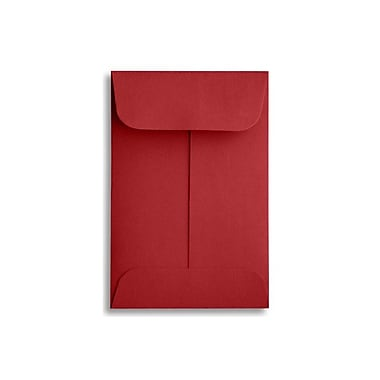 LUX #1 Coin Envelopes (2 1/4 x 3 1/2) 50/Box, Ruby Red (LUX-1CO-18-50)