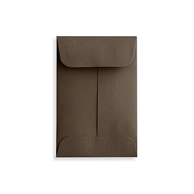 LUX #1 Coin Envelopes (2 1/4 x 3 1/2), Chocolate, 50/Box (LUX-1CO-17-50)