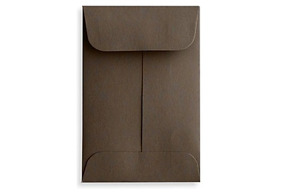 LUX #1 Coin Envelopes (2 1/4 x 3 1/2) 50/Box, Chocolate (LUX-1CO-17-50)