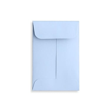 LUX #1 Coin Envelopes (2 1/4 x 3 1/2), Baby Blue, 250/Box (LUX-1CO-13-250)