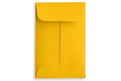LUX #1 Coin Envelopes (2 1/4 x 3 1/2) 500/Box, Sunflower (LUX-1CO-12-500)