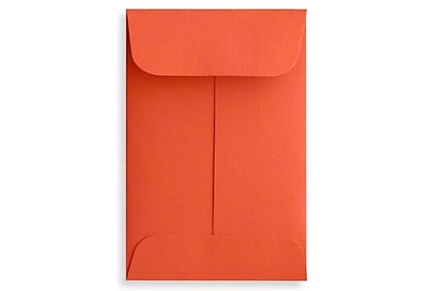 LUX #1 Coin Envelopes (2 1/4 x 3 1/2) 50/Box, Tangerine (LUX-1CO-112-50)