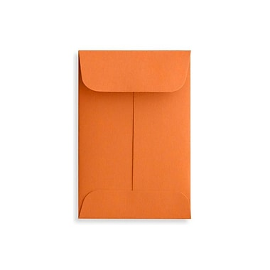 LUX #1 Coin Envelopes (2 1/4 x 3 1/2), Mandarin, 50/Box (LUX-1CO-11-50)