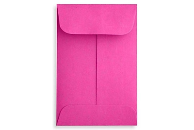 LUX #1 Coin Envelopes (2 1/4 x 3 1/2) 250/Box, Magenta (LUX-1CO-10-250)