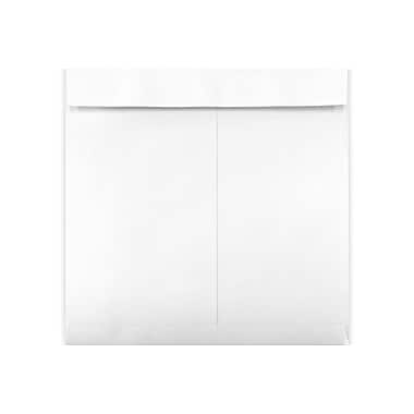 LUX Peel & Press 12 1/2 x 12 1/2 Square Envelopes, 28lb., White Wove, 1000/Box (8635-W-1000)