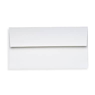 LUX Slimline Invitation Envelopes (3 7/8 x 8 7/8), 80lb., Bright White, 500/Box (72973-80W-500)