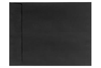 LUX 6 x 9 Open End Envelopes 250/Box) 250/Box, Black Linen (1644-BLI-250)