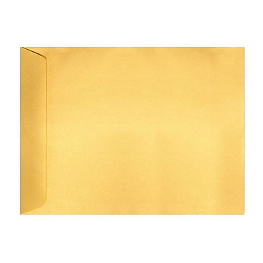 LUX 9 x 12 Open End Envelopes, Gold Metallic, 500/Box (4894-07-500)
