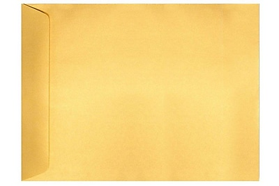LUX 9 x 12 Open End Envelopes 50/Box) 50/Box, Gold Metallic (4894-07-50)