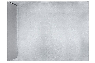 LUX 9 x 12 Open End Envelopes 50/Box) 50/Box, Silver Metallic (4894-06-50)