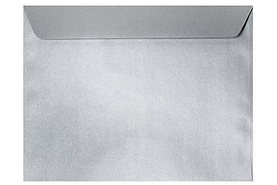 LUX 6 x 9 Booklet Envelopes 500/Box) 500/Box, Silver Metallic (4820-06-500)