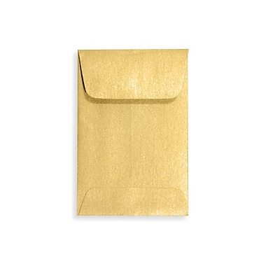 LUX #1 Coin Envelopes (2 1/4 x 3 1/2) 50/Box, Gold Metallic (1COGLD-50)