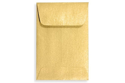 LUX #1 Coin Envelopes (2 1/4 x 3 1/2) 250/Box, Gold Metallic (1COGLD-250)