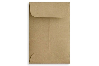 LUX #1 Coin Envelopes (2 1/4 x 3 1/2) 50/Box, Grocery Bag (1COGB-50)