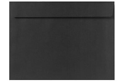 LUX 6 x 9 Booklet Envelopes 50/Box) 50/Box, Black Linen (4820-BLI-50)